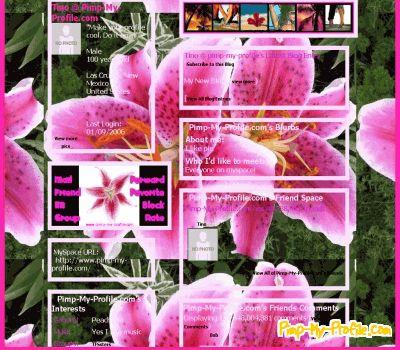 Blue And Purple Myspace Layout 55