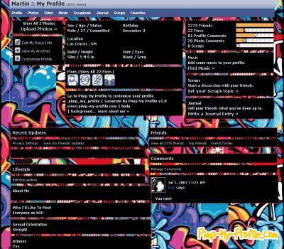 Ghetto graffiti hi5 Layouts - Pimp-My-Profile.com