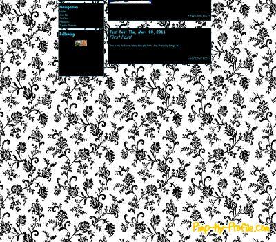 Classic Black White Floral Tumblr Themes Pimp My