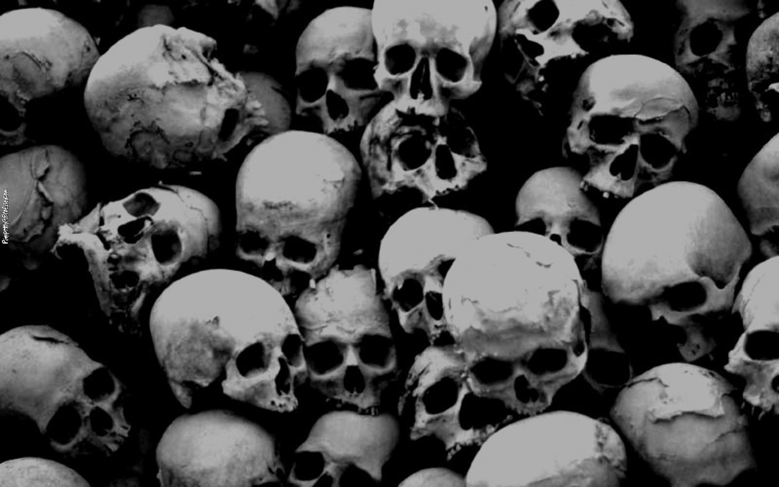 Skulls on black Twitter Backgrounds
