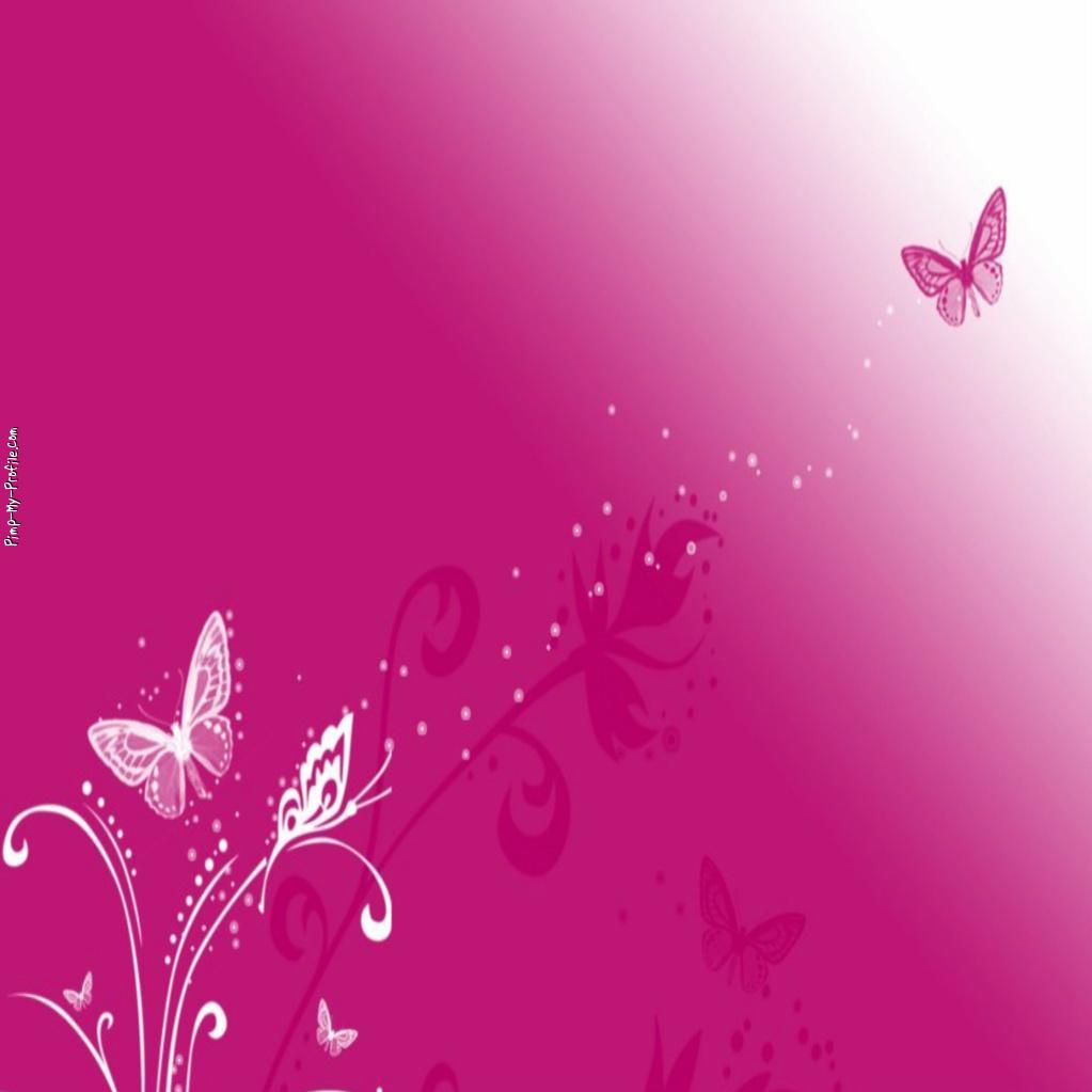 Pretty pink butterflies Twitter Backgrounds - Pimp-My ...