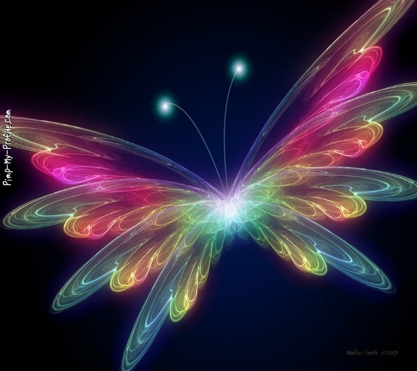 Neon butterfly Twitter Backgrounds - Pimp-My-Profile.com